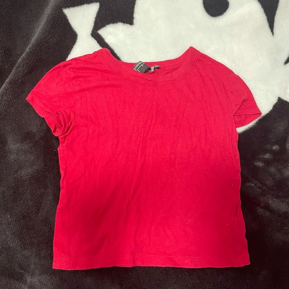 forever 21 red baby tee xx